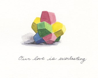 Everlasting Gobstopper Love print 8x8