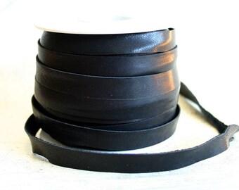 10mm Black Deertan Leather 1 Yard Soft Cord Lace
