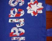 Girls Personalized Cheer/ Pom  4th of July Tote kids book bag custom birthday gift idea flower girl wedding toy purse