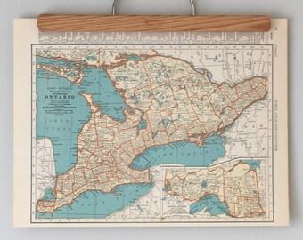 1930s Antique Maps of Ontario and Québec | Canadian Provinces | Canada Maps