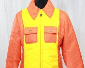 SALE ITEM Vintage 80s Style hang ten orange jacket
