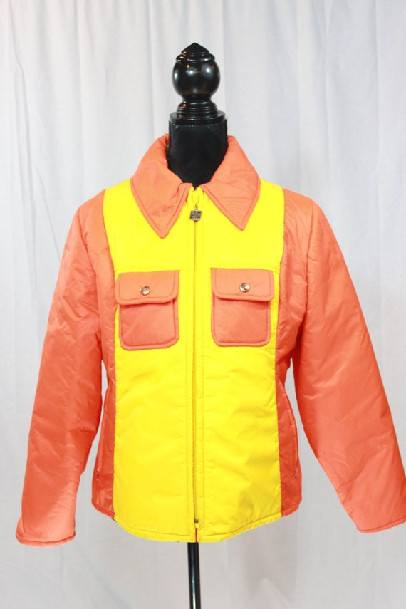 sale item vintage 80s style hang ten orange jacket