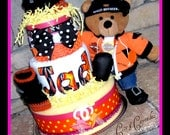 Motorcycle 3-Tier Diaper Custom Diaper Cake RESERVED for STEPH-DEZ