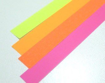 Summer Bliss Gorgeous colors Origami Lucky Star Paper Strips - pack of 80 strips
