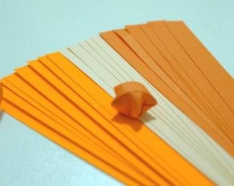 Summer Bliss - Zesty Orange Origami Lucky Star Paper Strips - pack of 90 strips