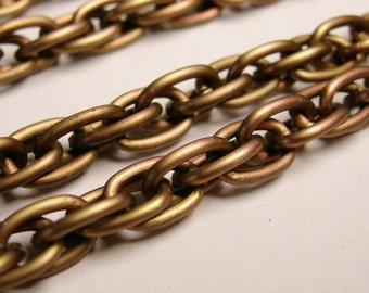 Copper chain - lead free nickel free won't tarnish - 1 meter-3.3 feet - aluminum chain