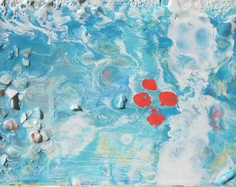 Original Encaustic Painting, Bee's Wax -From the Sea 6 x 12