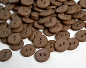Two Hole 3/8 inch Brown Buttons - 100 (PB011113-3)