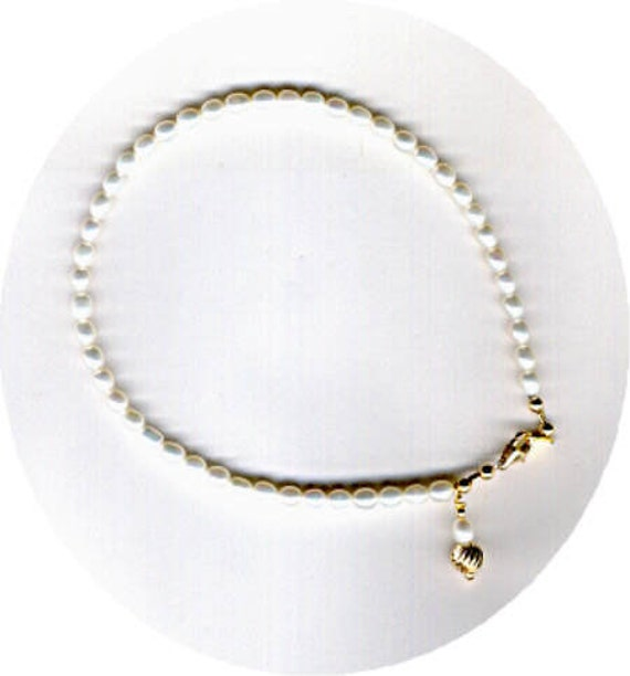 Ultimate Freshwater Pearl Bracelet - Anklet with Dangle