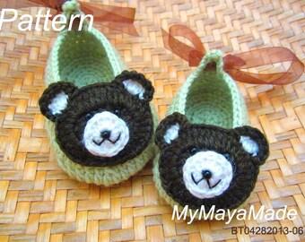 Crochet Pattern - Little Bear Crochet Baby Booties PDF Pattern - BT04282013-06 - Instant Download