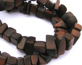 "Brown Tagua Nut Beads, Big Chip Beads, 14"" Strand, Organic Beads, Natural Beads, Vegetable Ivory Beads, EcoBeads"