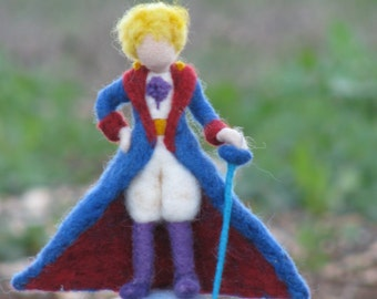 Waldorf inspired needle felted Little Prince soft sculpture