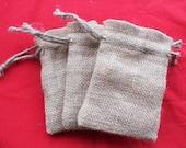 "25 Burlap bags 6"" X 10"" for candles handmade soap wedding favor bags"