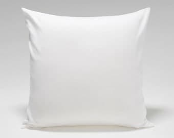 Solid White Cotton Pillow Cover In 3 Sizes - BESTSELLER