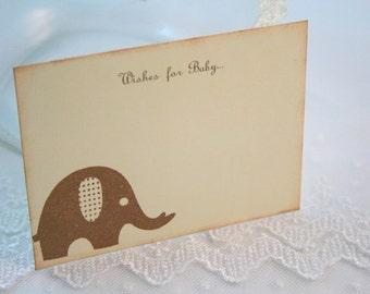Elephant Wish Jar Cards Baby Shower Set of 10