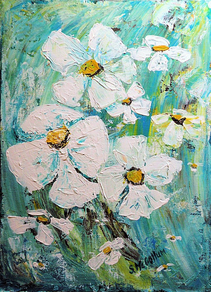 Acrylic abstract art palette knife painting heavy texture for Palette knife painting acrylic