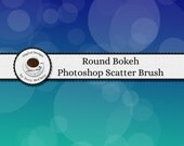 Photoshop Brush - Round Bokeh Scatter - INSTANT Digital Download - Full Commercial Use