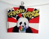Vinyl Sticker Rainbow Rabies Panda Graffiti