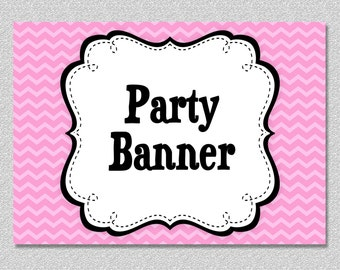 Matching Printable Party Banner