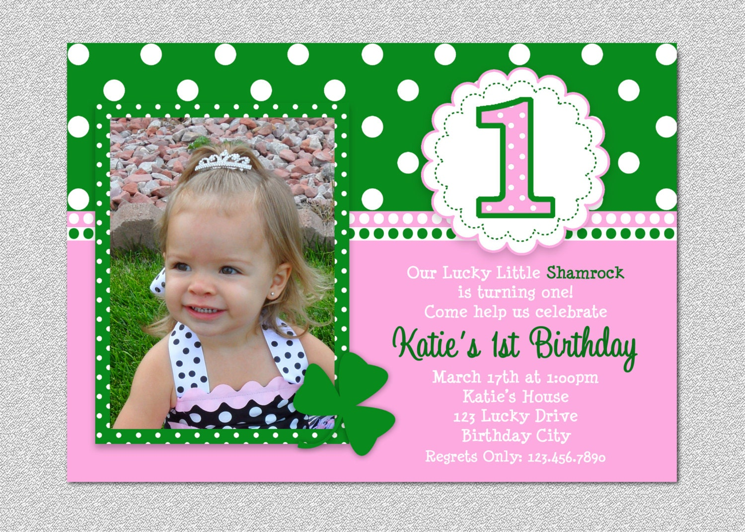 1st Birtday Party Invitations St Patricks Day Birthday Party