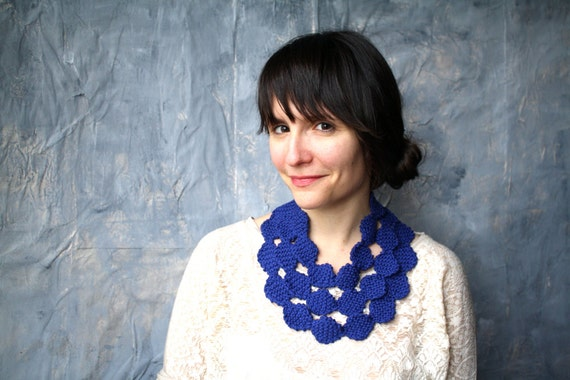 Knit Necklace Cowl Scarf