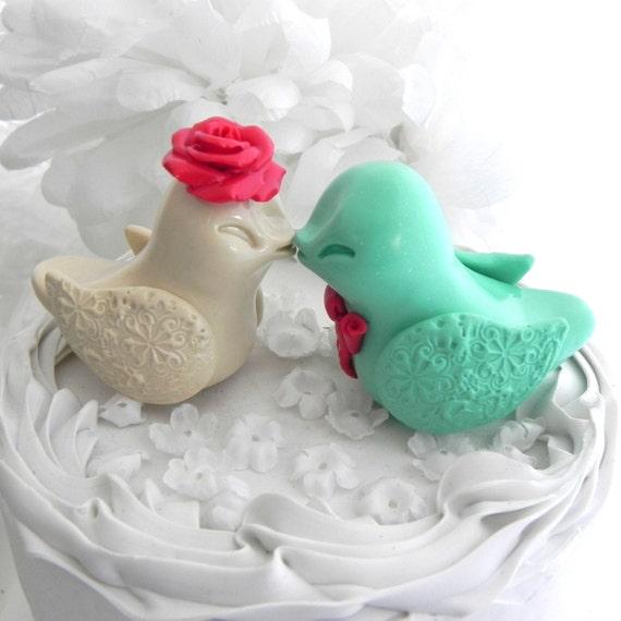 Wedding Cake Topper Birds Etsy