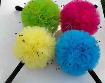 Fun and Funky Bridesmaid Tulle Bouquets