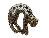 Leni, French Vintage, Gold Leopard Brooch Jewelry, from Paris