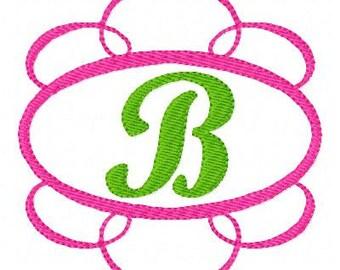 Tiara Swirl Machine Embroidery Monogram Design Set // Joyful Stitches