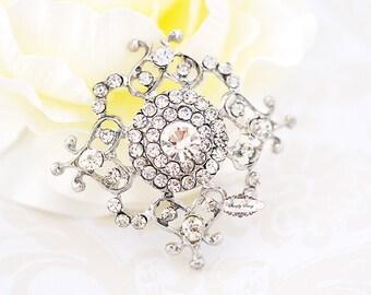 3pcs Rhinestone Embellishment Brooch Flatback Button Wedding Brooch Bridal Bouquet Cake Decoration RD278