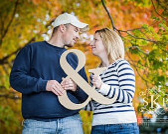 Ampersand Sign - 18 Inch Ampersand Sign Photo Prop - '&' Sign for Engagement Photos Wedding Sign Photo Prop (Item - AMP180)