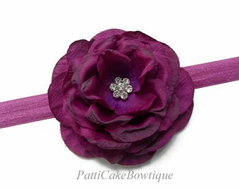 Purple Headband, Baby Headband, Purple Flower Headband, Flower Girl Headband, Toddler Headband, Infant Headband, Newborn Headband, 101
