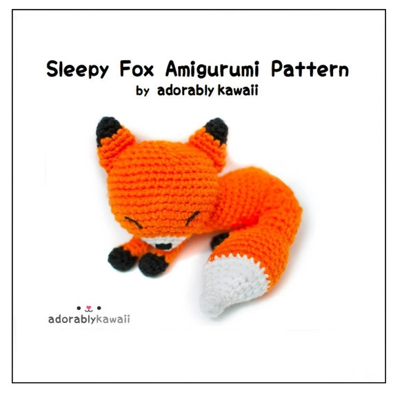 Amigurumi Strawberry Girl Free Pattern : Sleepy Fox Amigurumi Pattern Fox Crochet Pattern PDF