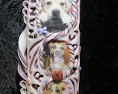 I love my Doggies....Collage your pictures Hand carved keepsake candle