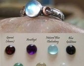 RESERVED FOR rikak13 ~ Labradorite - Triple Moon with Rose Gold Cresent Moons