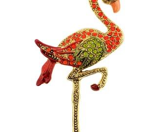 Hyacinth Enamel Flamingo Pin Bird Pin Brooch 1012711