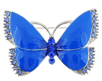 Enamel Blue Butterfly Pin Brooch 1002612