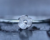 Handmade Sterling Silver Ring Flower Lily Single Flower Stacking Ring Size 6