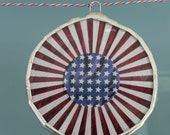 Bunting Boules- red white and blue lacquered glass discs- 3inches