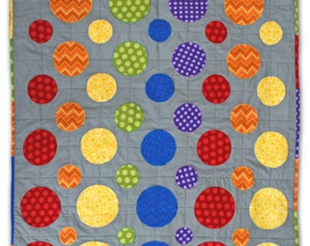 Dotty Single/Twin Bed Quilt Pattern