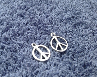 2 Sterling Silver Peace Signs