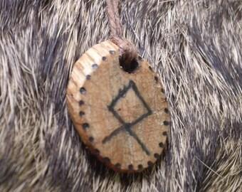 Viking Oak Othala Runic Talisman