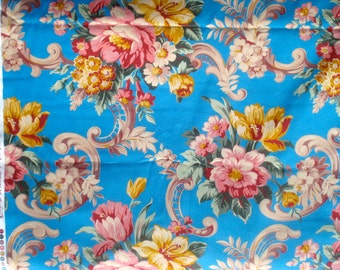 Price DROP : Girlfriends Carole turquoise blue Jennifer Paganelli Free Spirit fabric FQ or more