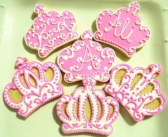 Items similar to 12 Princess Crown Sugar Cookies on Etsy