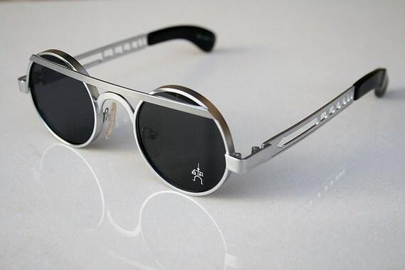 Populaire lunettes de soleil rondes en argent lunettes de soleil métal KW46
