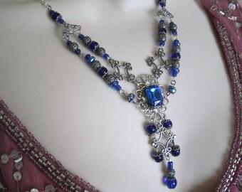Renaissance Necklace, renaissance jewelry medieval jewelry victorian jewelry edwardian jewelry art deco art nouveau neo victorian tudor
