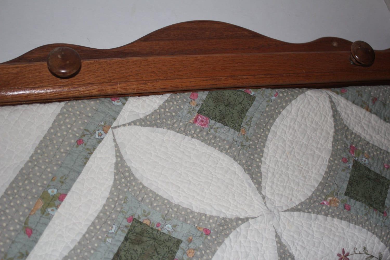 Quilt Rack Wall Hanging Oak