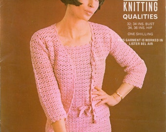 Crochet Dress Vintage Pattern PDF 147 Dress and Jacket from WonkyZebra
