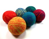 Wool Dryer Balls - Rainbow Swirl - Set of 6 Eco Friendly - Can be Scented or Unscented