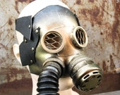 Soviet vintage leather GAS MASK goggles Steampunk pilot